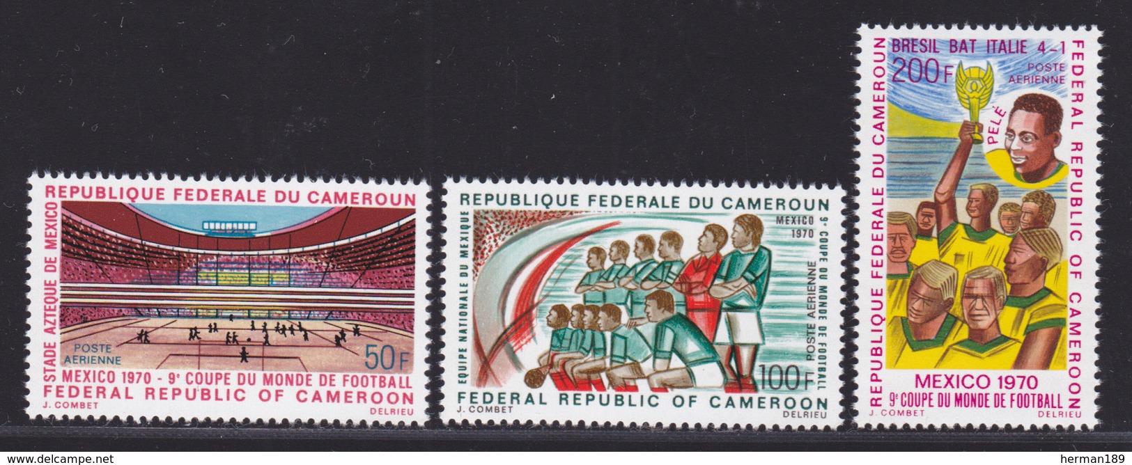 CAMEROUN AERIENS N°  165 à 167 ** MNH Neufs Sans Charnière, TB (D4261) Coupe Du Monde De Football, Mexico - Cameroon (1960-...)