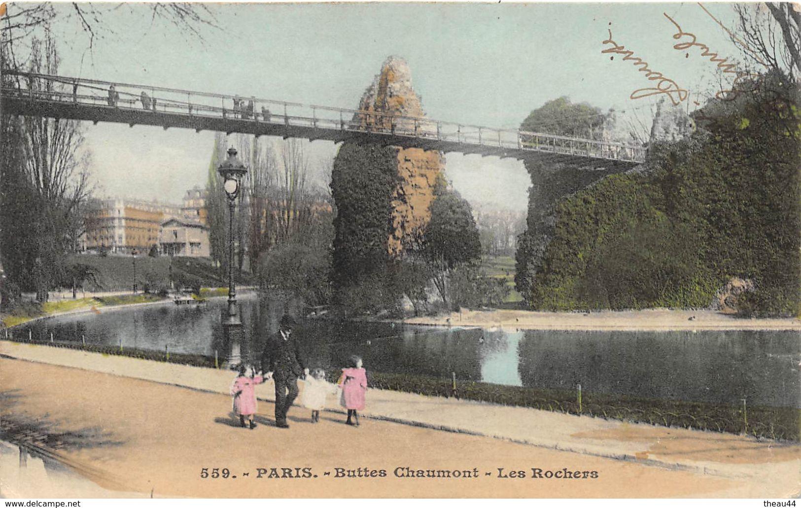 ¤¤   -   PARIS   -  Buttes Chaumont   -  Les Rochers     -  ¤¤ - Arrondissement: 19