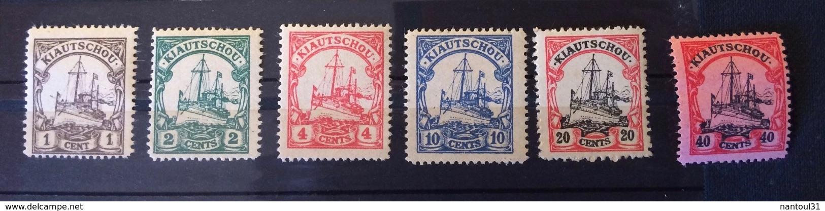 Kiautchou 1905 Colonie Allemande Yvert Et Tellier N°14 à 19 - Colonie: Kiautchou