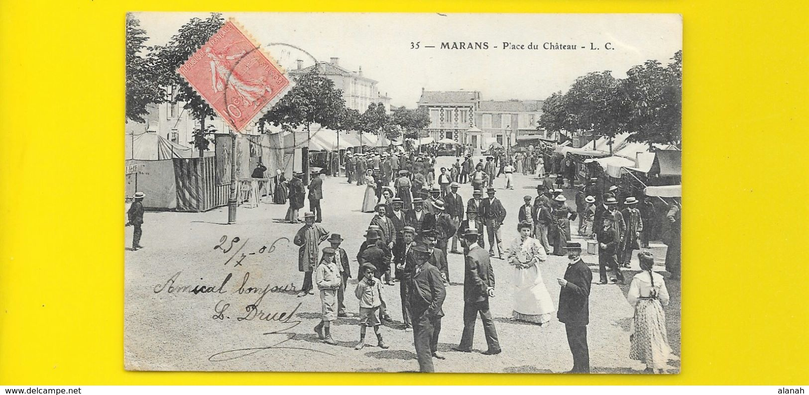 MARANS Place Du Château (L.C) Chte Mme (17) - Autres Communes