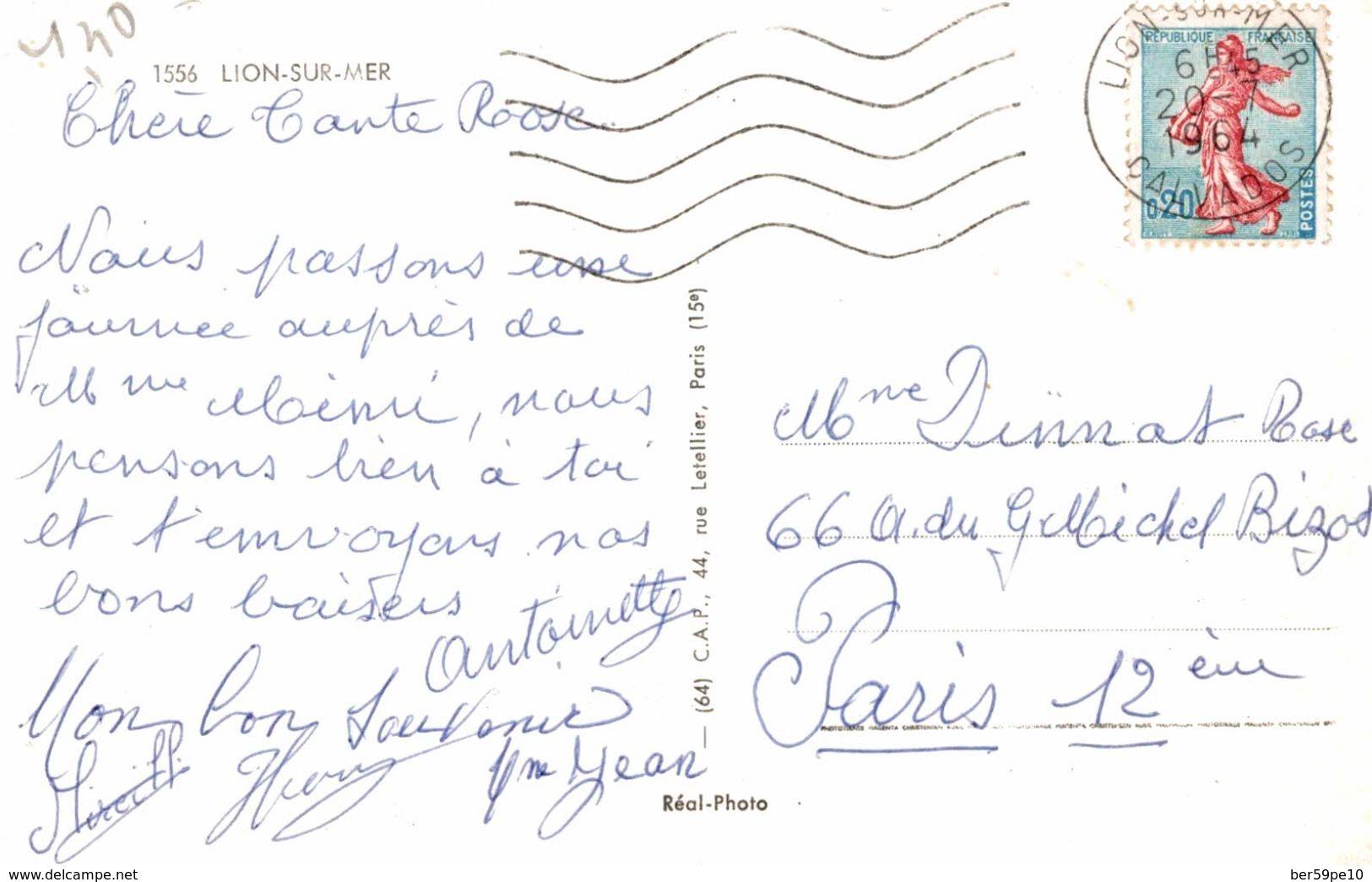 14 SOUVENIR DE LION-SUR-MER MULTI-VUES - France
