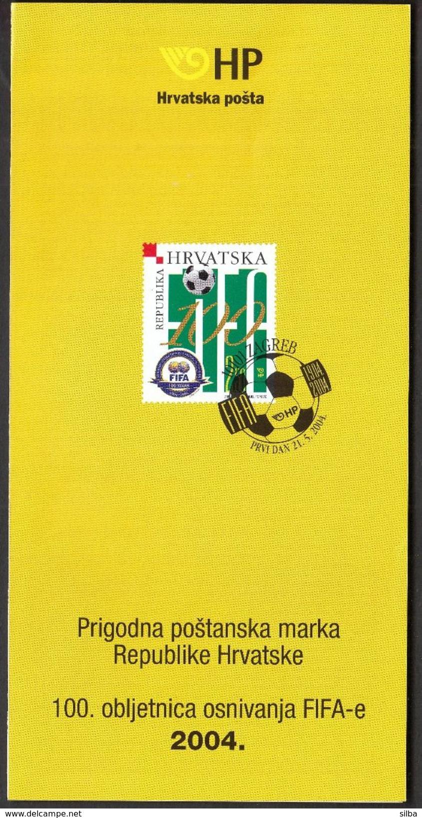 Croatia 2004 / Prospectus, Leaflet, Brochure / 100th Ann. Of The Founding Of FIFA / Football - Croatie