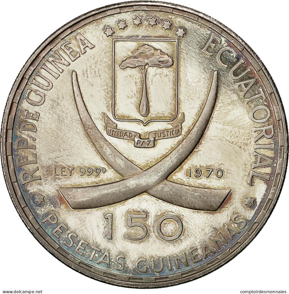 Monnaie, Equatorial Guinea, 150 Pesetas, 1970, SPL, Argent, KM:15 - Guinée Equatoriale