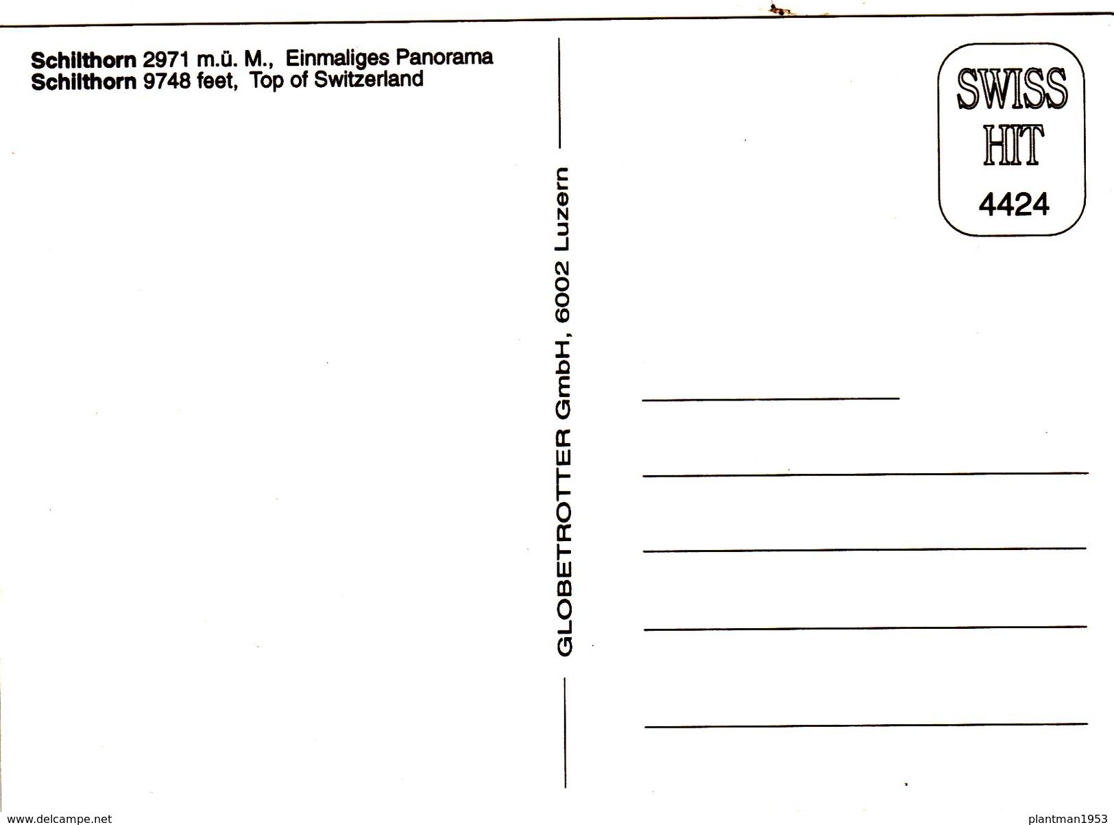 Modern Post Card Of Schilthorn,Eiger, Mönch And Jungfrau,Bernese Alps Of Switzerland.,B30. - Switzerland