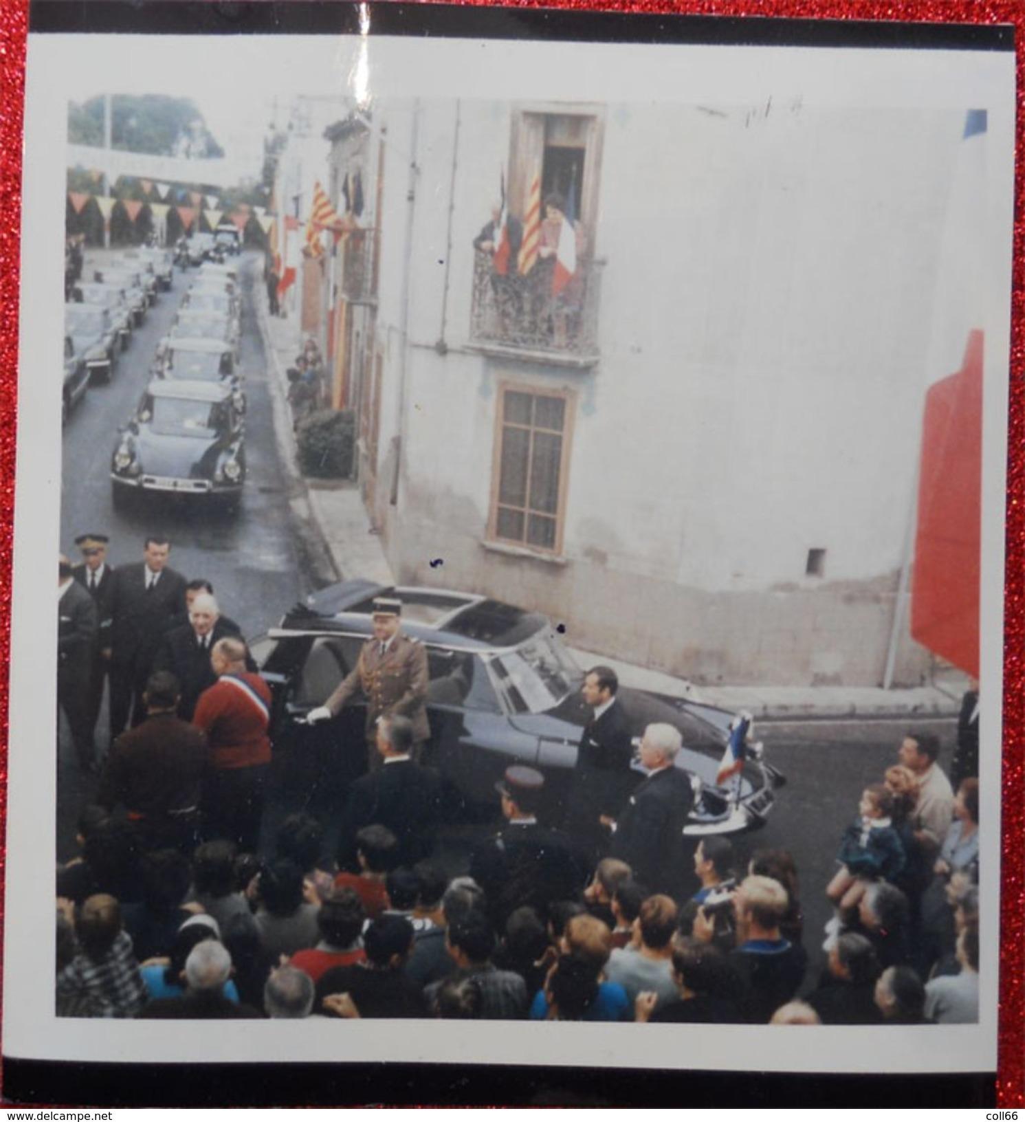 RRRARE 66 St Cyprien 1967 Lot 3 Photos Visite Général De Gaulle à Jean Olibo Maire Franc-maçonnerie Freemason - Berühmtheiten