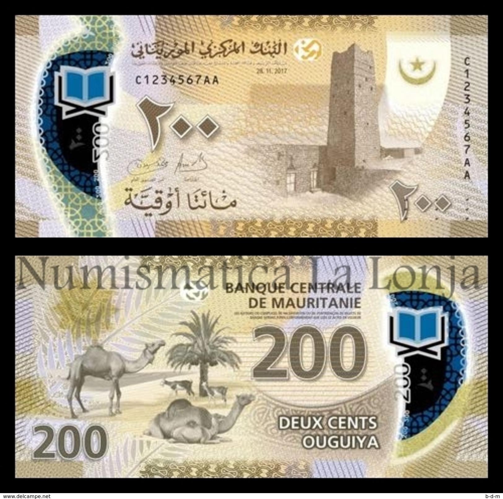 Mauritania 200 Ouguiya 2017 (2018) Pick New Polymer SC UNC - Mauritania