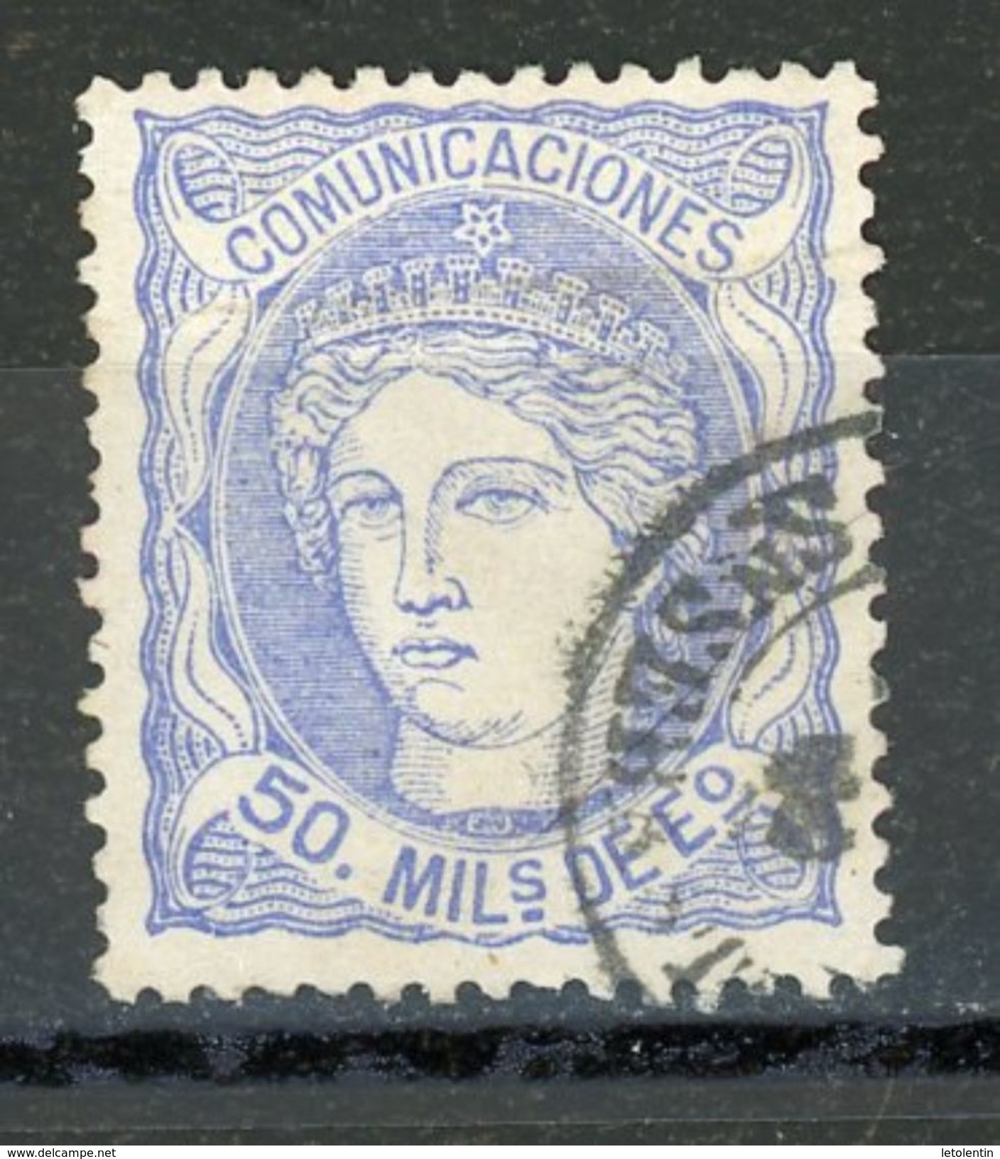 ESPAGNE : SOUVERAINS - N° Yvert 107 Obli. - Used Stamps