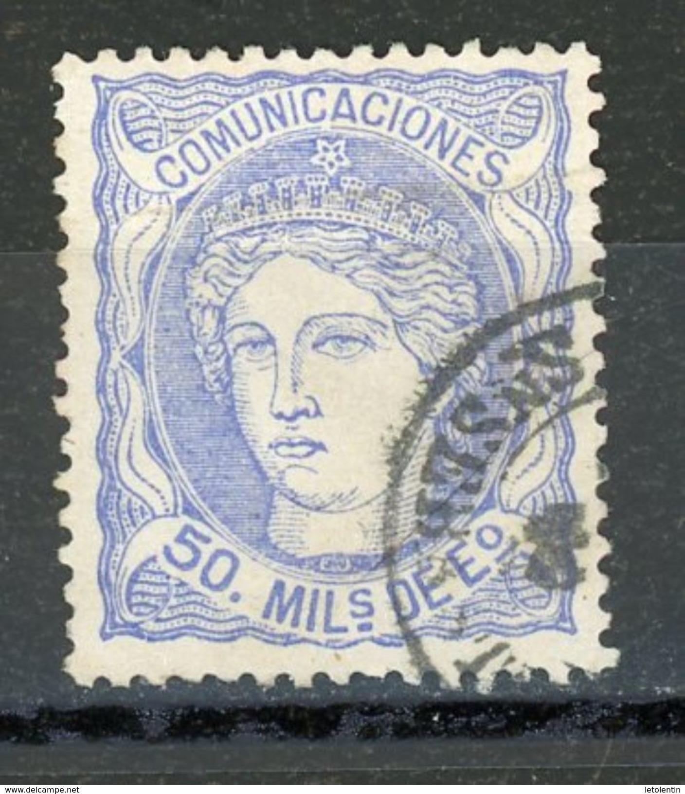 ESPAGNE : SOUVERAINS - N° Yvert 107 Obli. - 1870-72 Regency