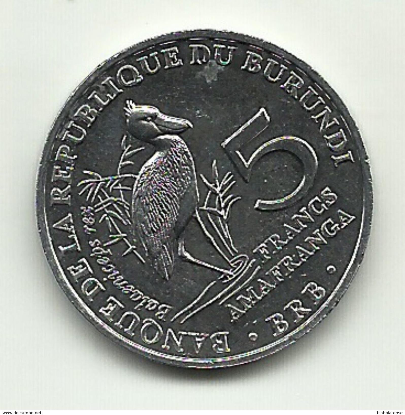 2014 - Burundi 5 Francs, - Burundi