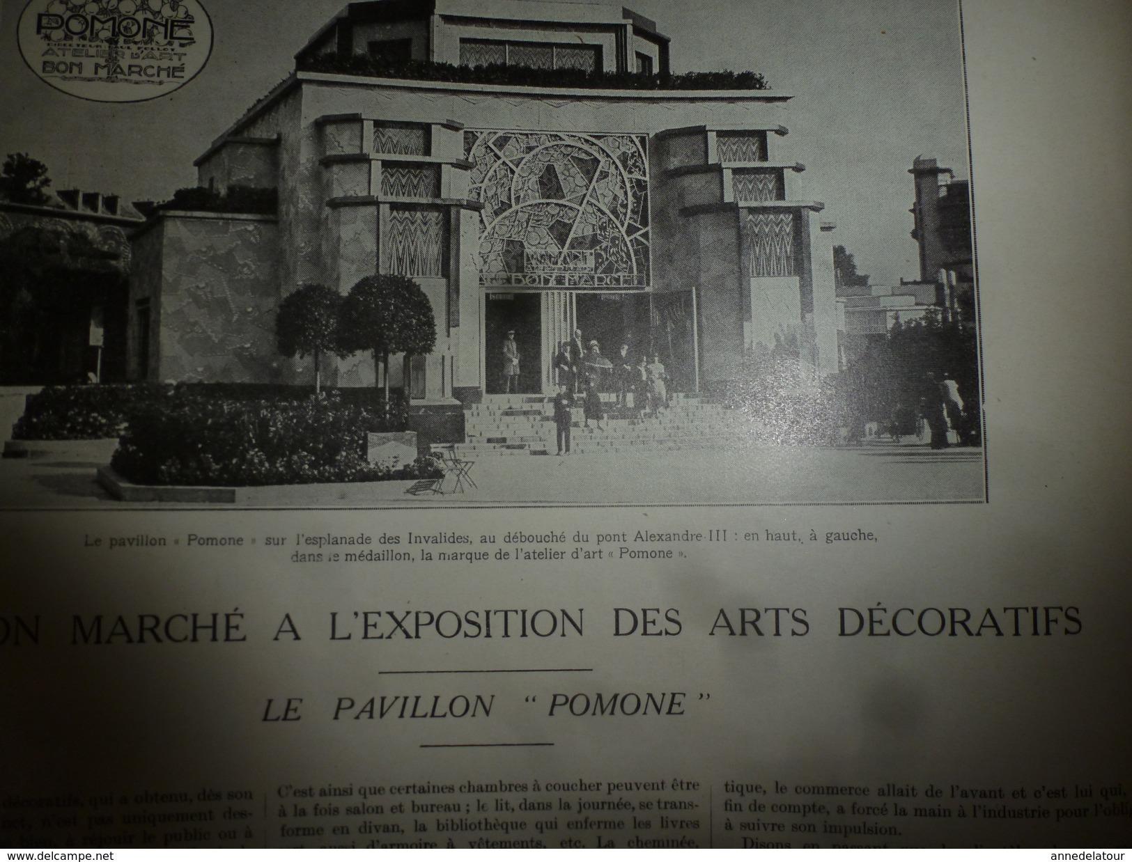 1925 L'ILLUSTRATION :  MAROC (Djebel Nador,Kifane,Djebel Selloum,Tizi-Ouzli,Syah,Meknès,etc); ARTS DÉCORATIFS (++++) - L'Illustration