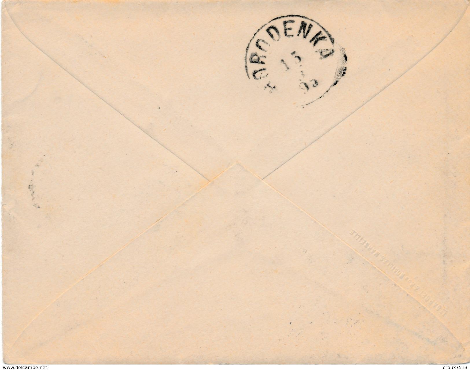 Env De Marseille Gare à Horodenka (Galicie) Via Autriche TB. - Postmark Collection (Covers)