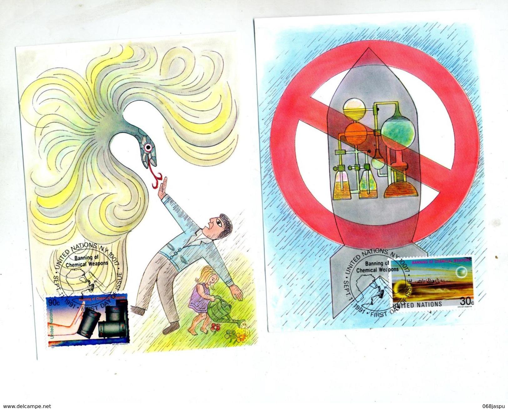 Carte Maximum 1991 Halte Arme Chimique - Cartoline Maximum
