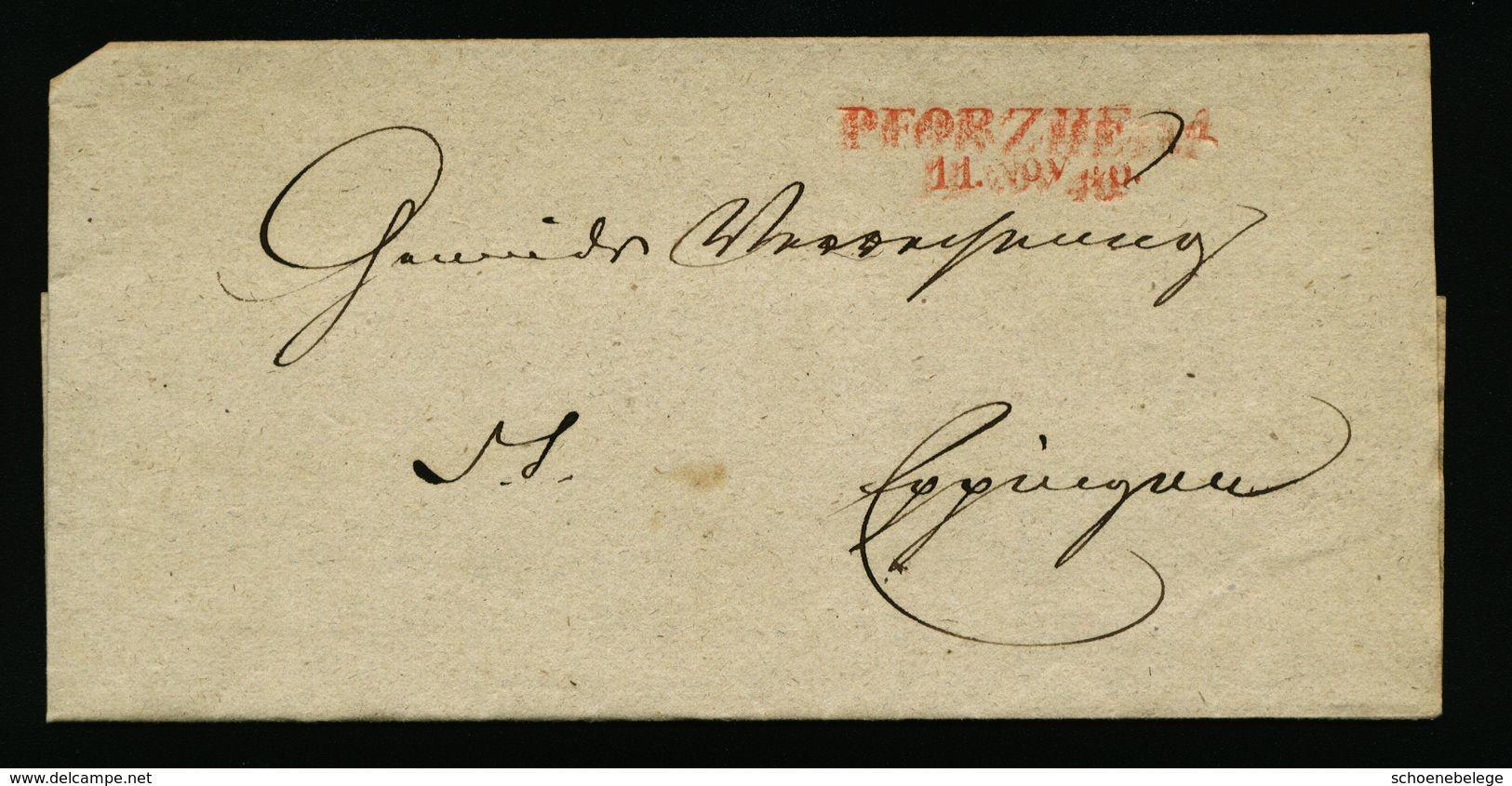 A5080) Vorphila Brief PFORZHEIM 11.11.1846 - Deutschland