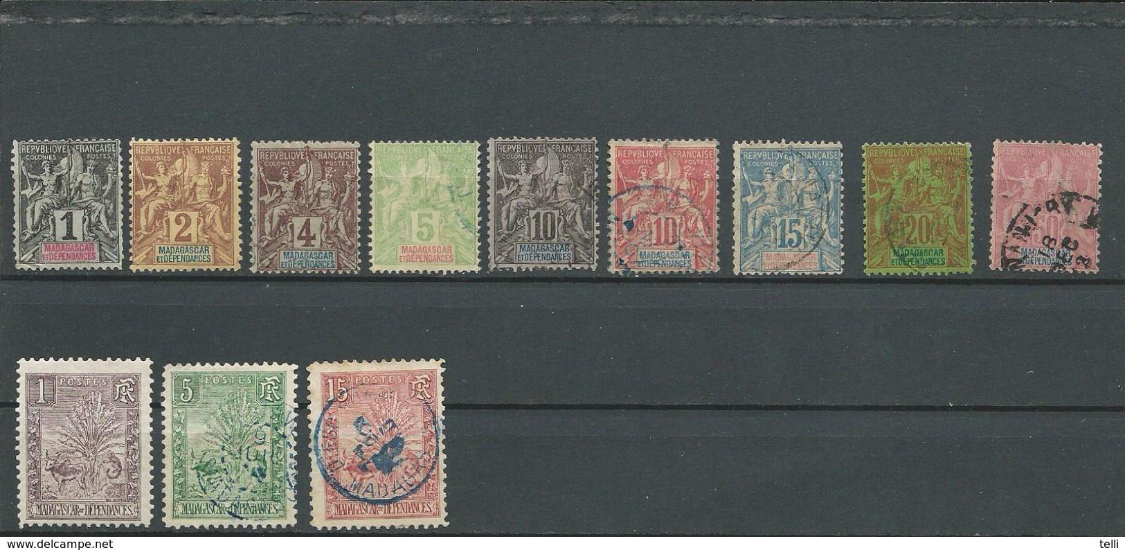 MADAGASCAR  Voir Détail (12) O Et * Cote 16,70$ 1895 - Madagascar (1889-1960)