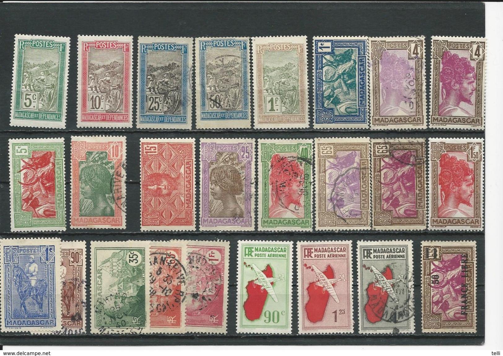 MADAGASCAR  Voir Détail (25) O Et * Cote 19,00$ 1908-1939 - Oblitérés