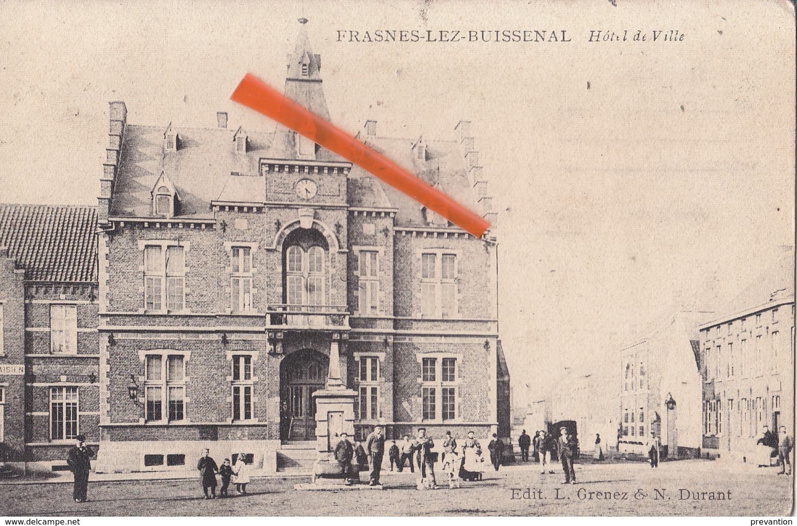 FRASNES-LEZ-BUISSENAL - Hôtel De Ville - Superbe Carte Très Animée - Frasnes-lez-Anvaing