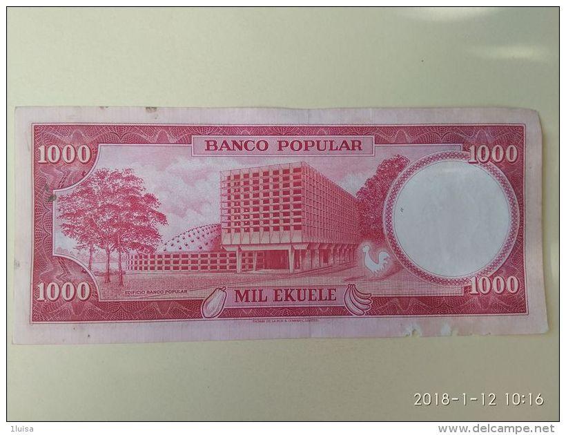 1000 Ekuele 1975 - Guinée Equatoriale