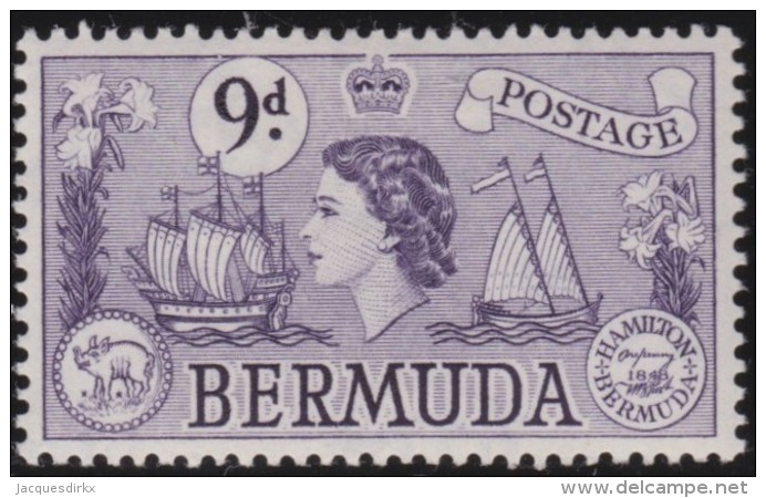 Bermuda        .      SG     .     143b        .     *      .     Ongebruikt   .    /    .      Mint-hinged - Bermuda