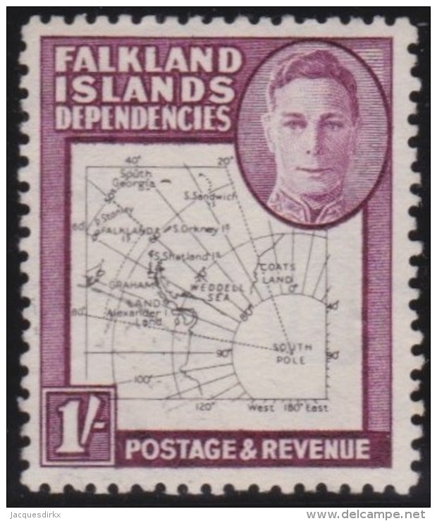 Falkland  Islands         .      SG        .   G 16       .       O       .      Gebruikt   .    /    .   Cancelled - Falklandeilanden