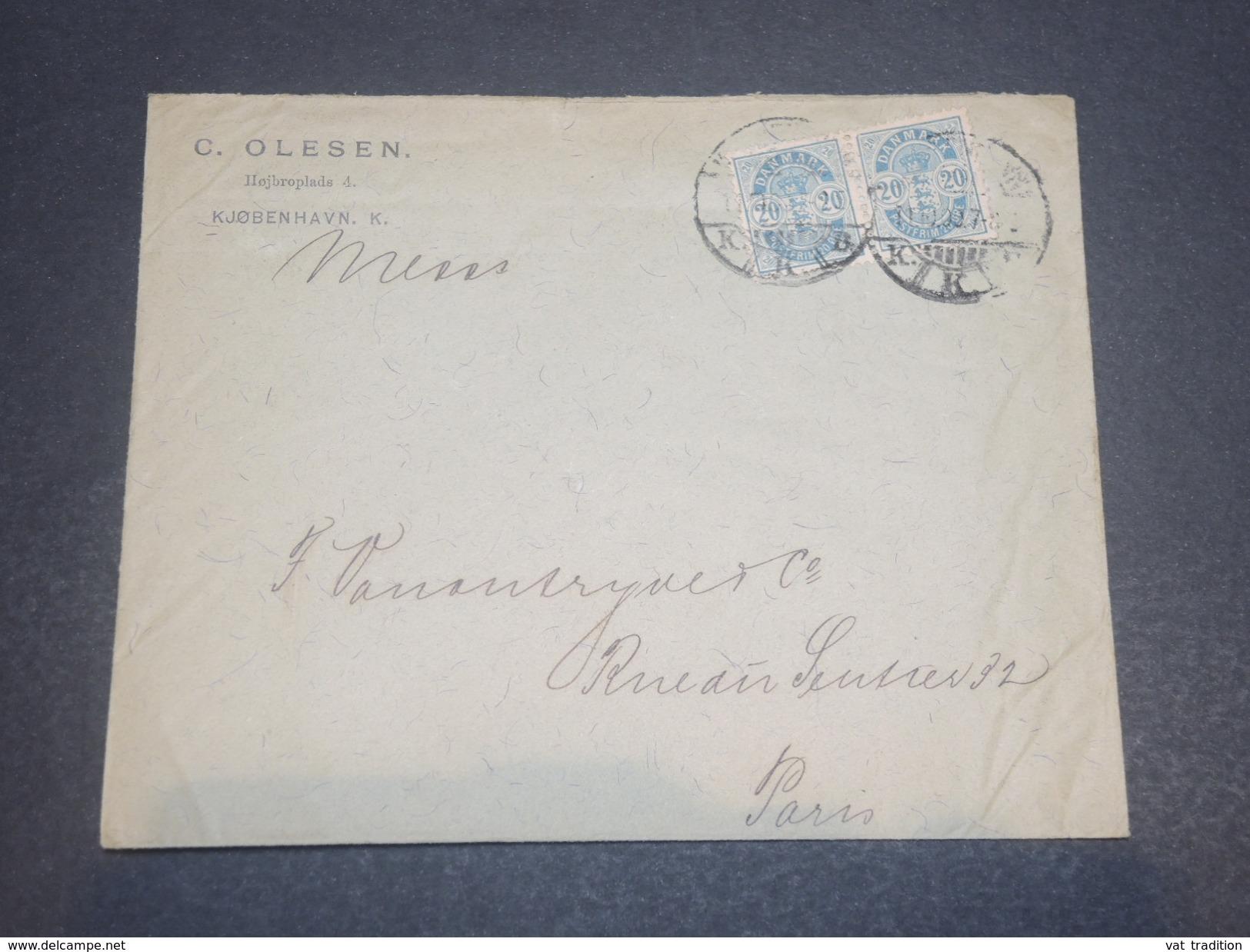 DANEMARK  - Enveloppe Commerciale Pour Paris, Affranchissement Plaisant - L 11695 - 1864-04 (Christian IX)