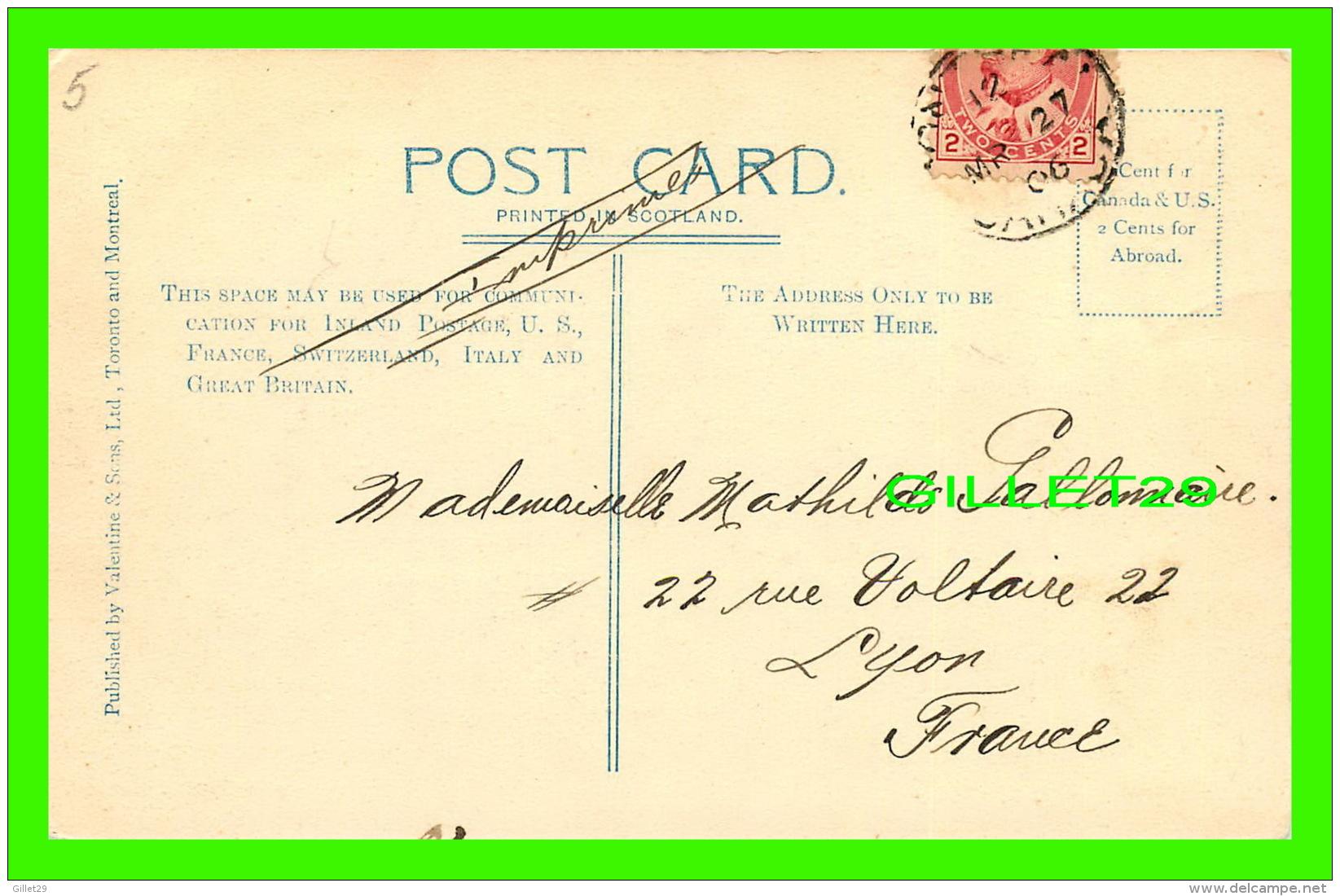 BUCKINGHAM, QUÉBEC - BUCKINGHAM FALLS - CANADIAN PACIFIC RAILWAY - CIRCULÉE EN 1906 -  VALENTINE AND SONS LTD - - Autres
