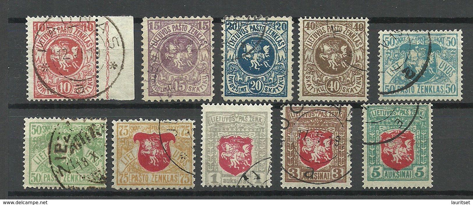 LITAUEN Lithuania 1919 Coat Of Arms Wappen O - Lithuania