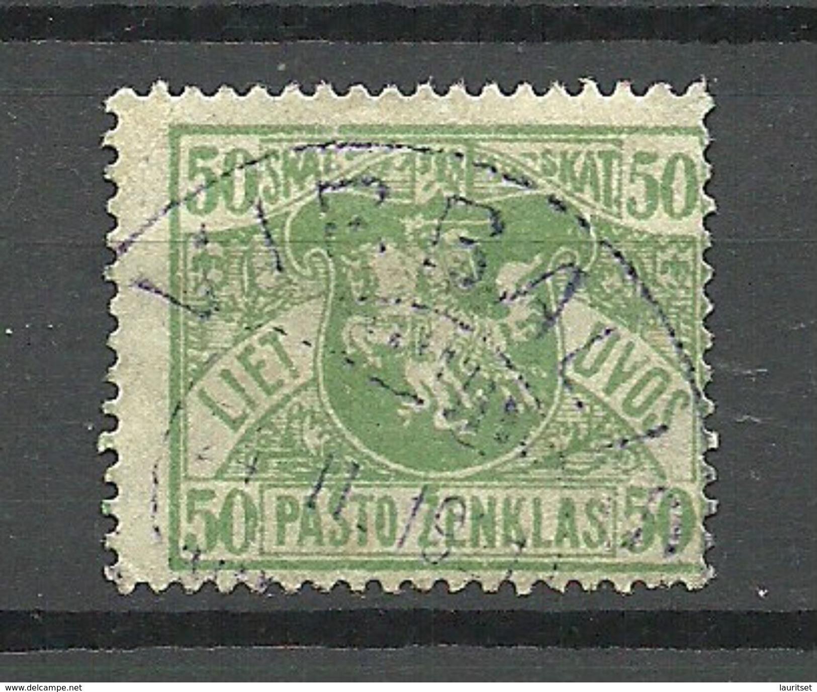 LITAUEN Lithuania 1919 Michel 55 O VIRBALIS - Lithuania