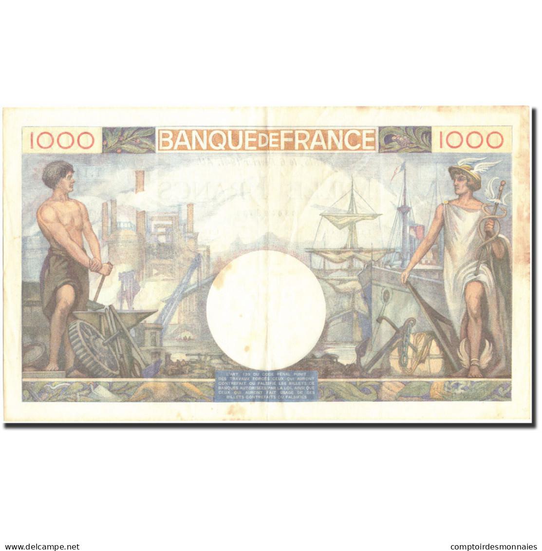 France, 1000 Francs, 1 000 F 1940-1944 ''Commerce Et Industrie'', 1941 - 1 000 F 1940-1944 ''Commerce Et Industrie''