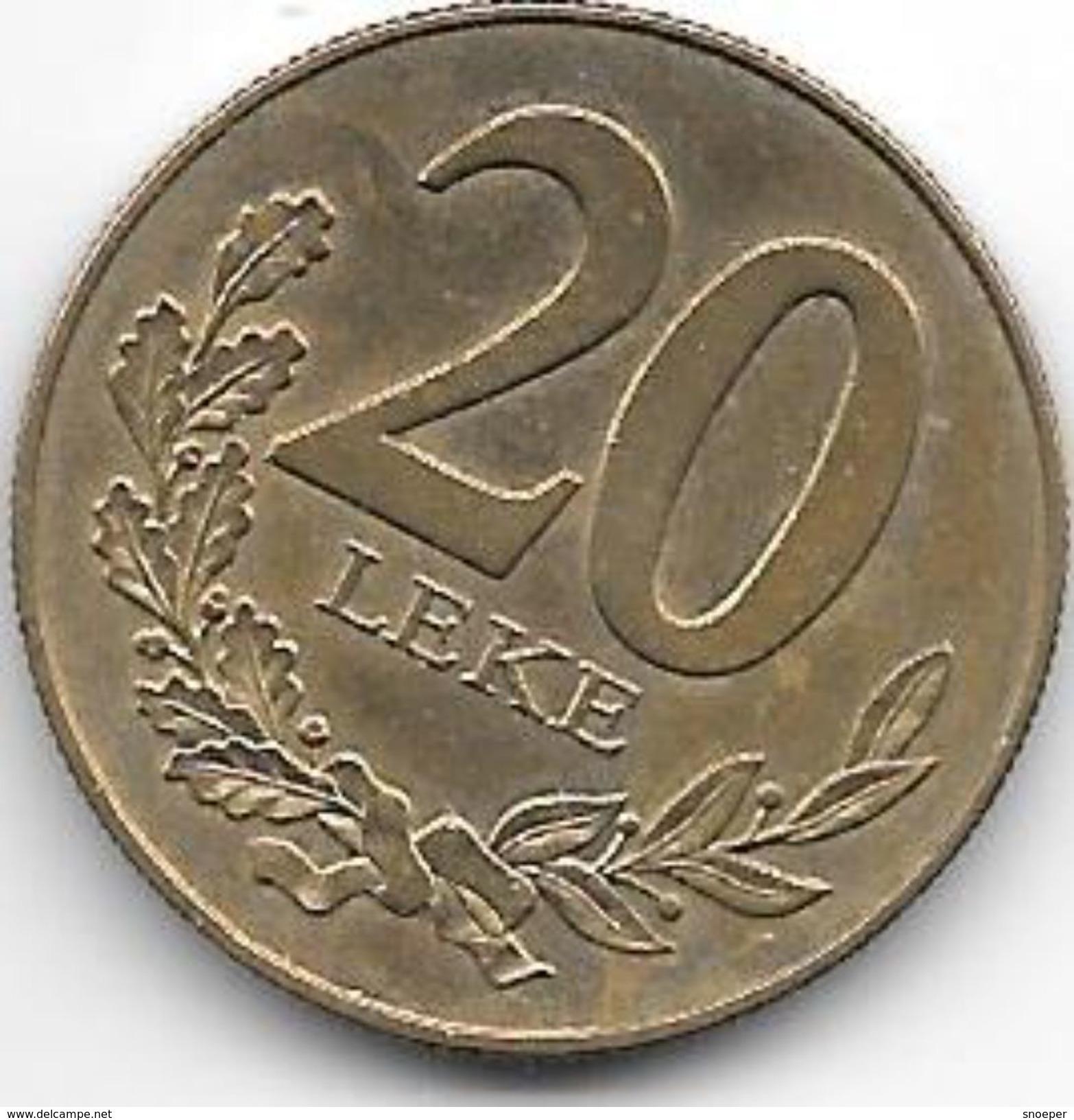 *albania 20 Leke 2000  Km 78  Xf+ - Albania