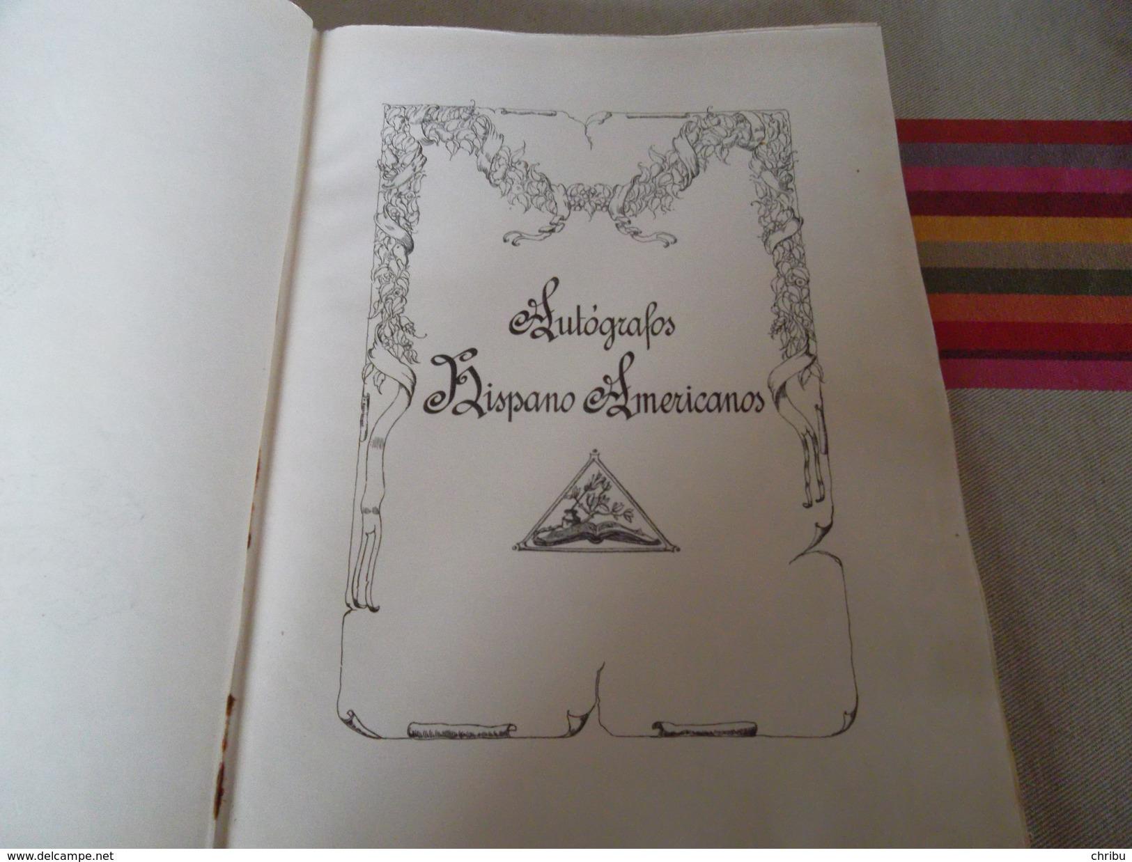 AUTOGRAPHOS HISPANO AMERICANOS  CELINA GONZALEZ PENA DE CALDERA - Livres, BD, Revues
