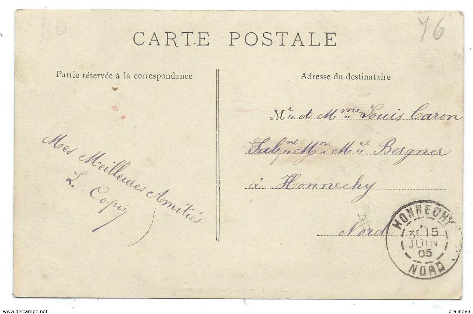 CPA - ELBEUF, LE PONT SUSPENDU - Seine Maritime 76 - Circulé 1905 - Elbeuf
