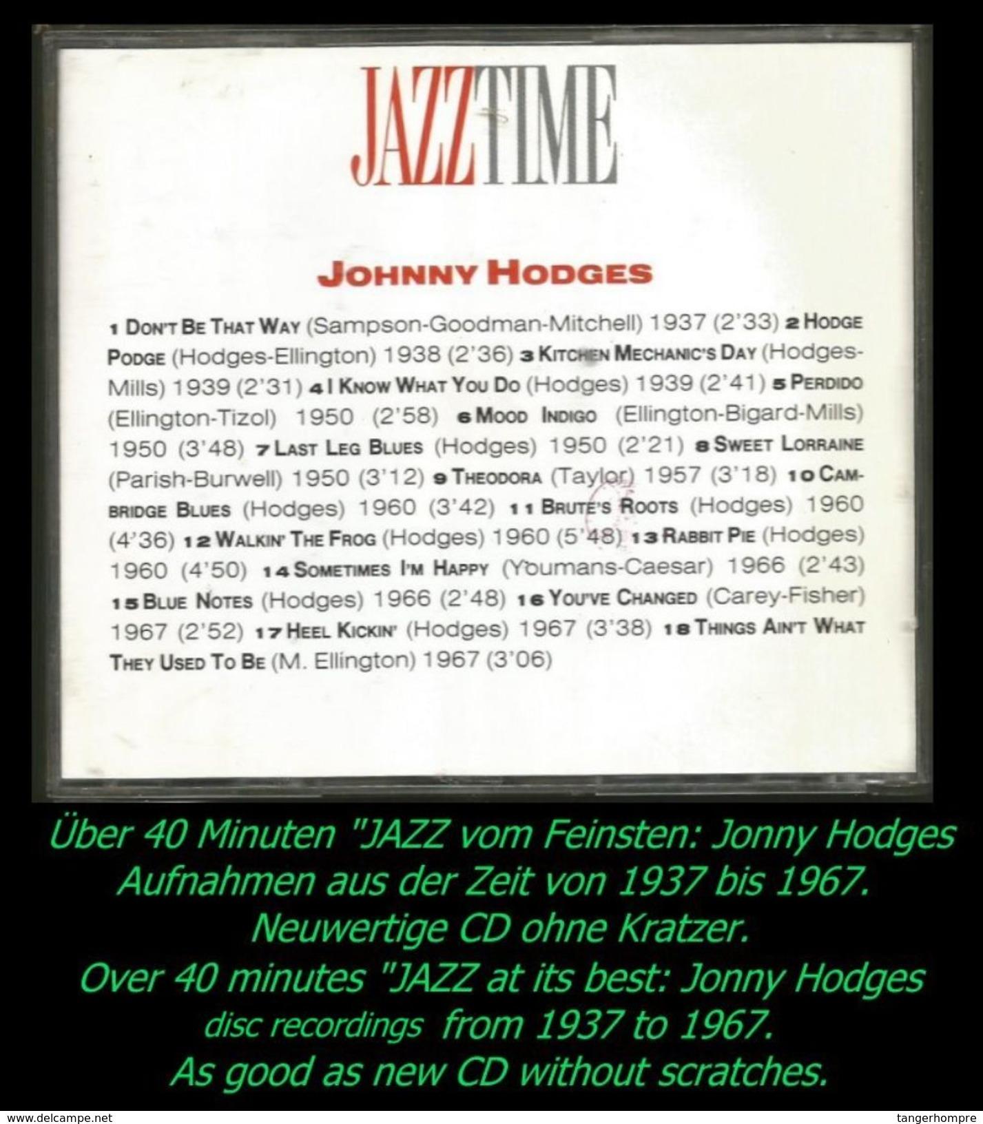 über 40 Minuten Jazz Von Jonny Hodges Von 1937 - 1967 - Jazz Of Finest - From 1937 - 67 - Jazz
