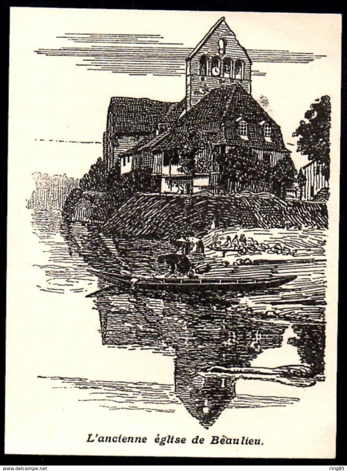 1925  --  L ANCIENNE EGLISE DE BEAULIEU   3N382 - Ohne Zuordnung