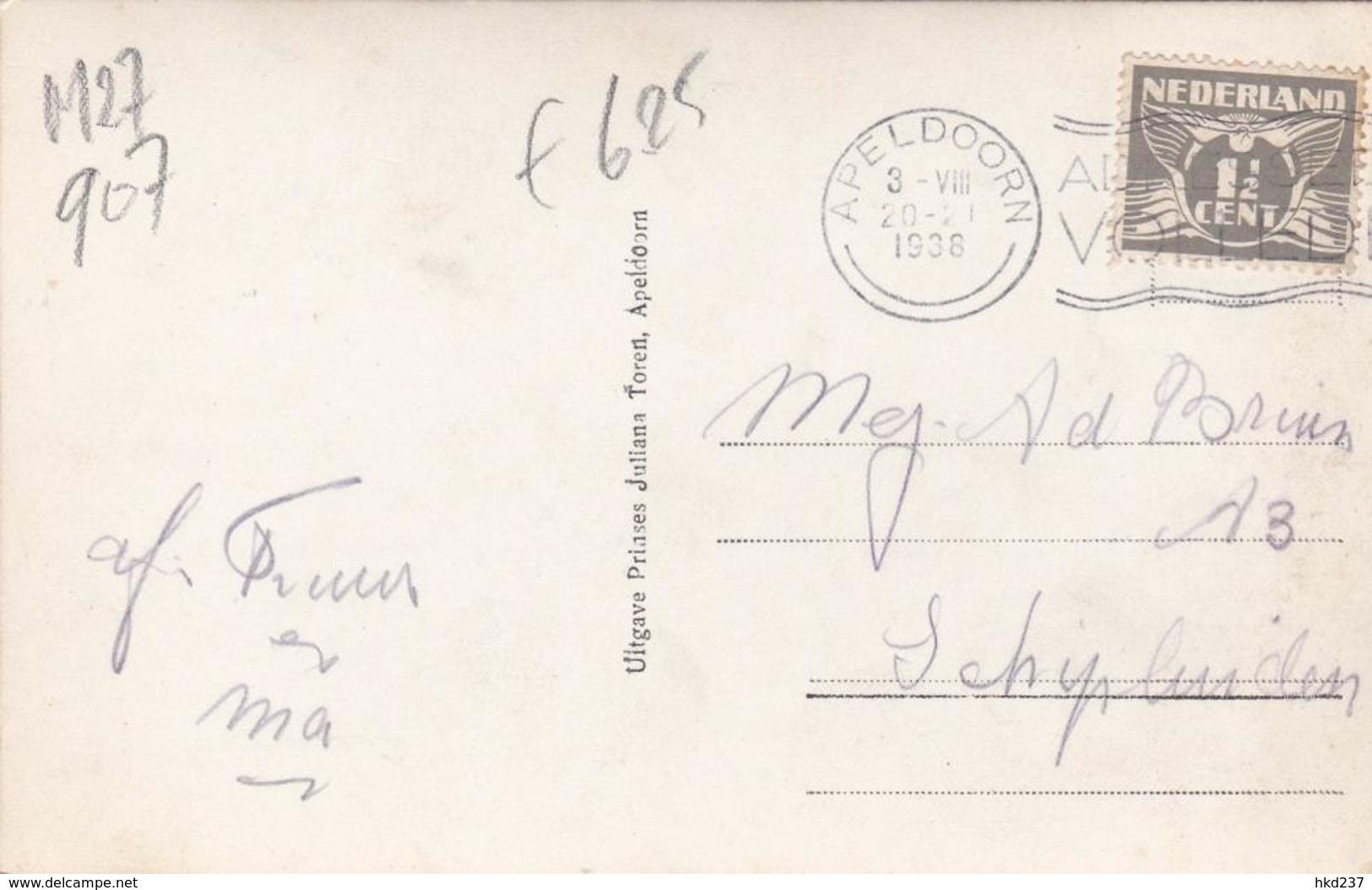 Apeldoorn Dwaaltuin A/d Prinses Juliana Toren Doolhof # 1938    907 - Apeldoorn