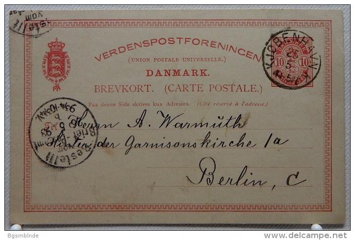 Ganzsache 10 Öre Von 1893 - 1864-04 (Christian IX)