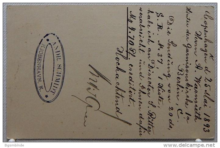 Ganzsache 10 Öre Von 1893 - Briefe U. Dokumente