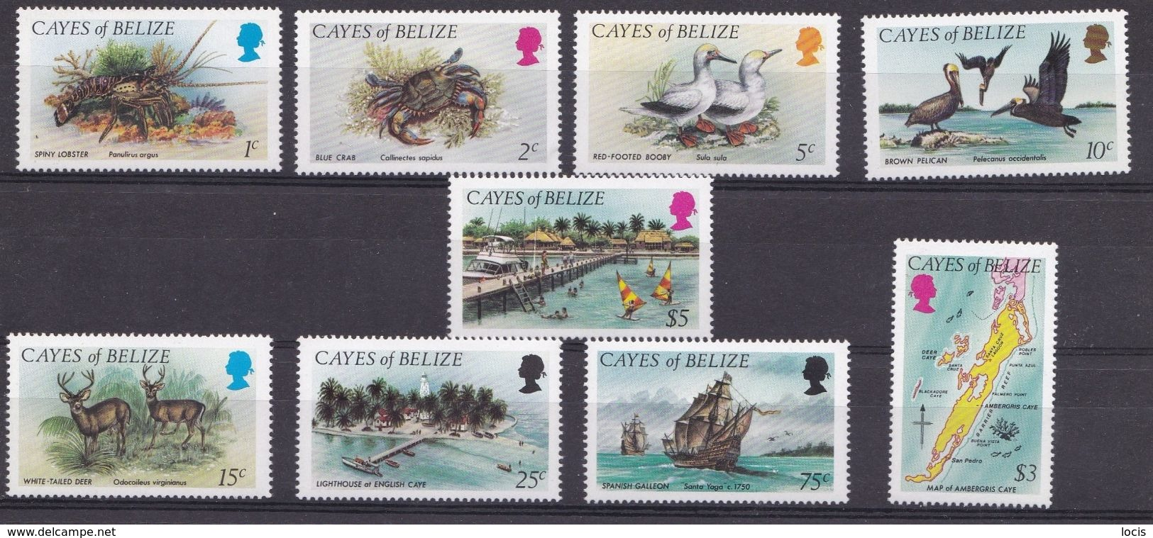 Cayes Of Belize 1984 MNH** - Crab, Birds, Animals, Ship - Autres