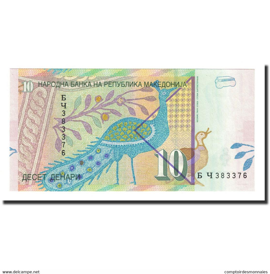 Billet, Macédoine, 10 Denari, 2003, KM:14d, NEUF - Macédoine