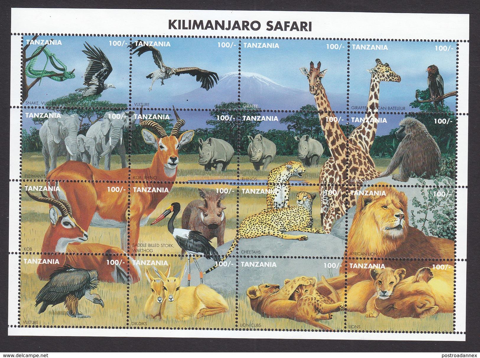 Tanzania, Scott #1363, Mint Never Hinged, Wildlife, Issued 1995 - Tanzania (1964-...)