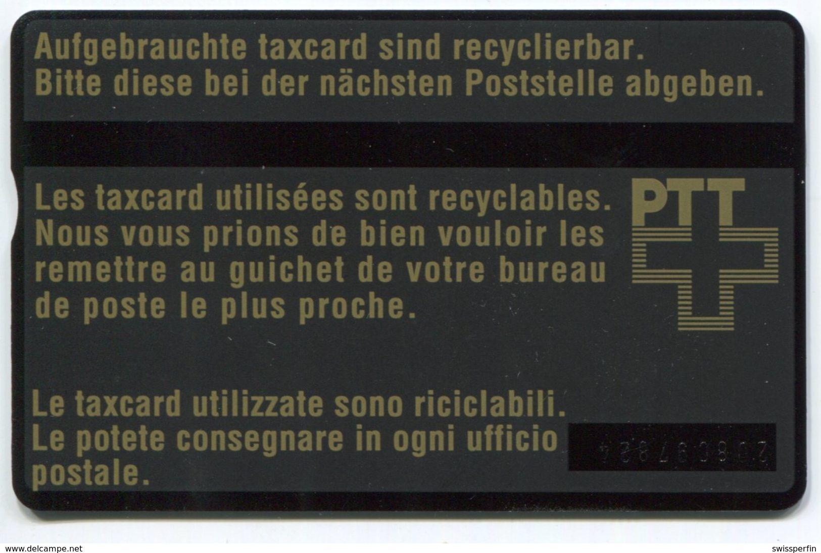 1750 - 10 CHF VIDEOTEX - ABART Fleck - Gebrauchte Schalterkarte - Schweiz