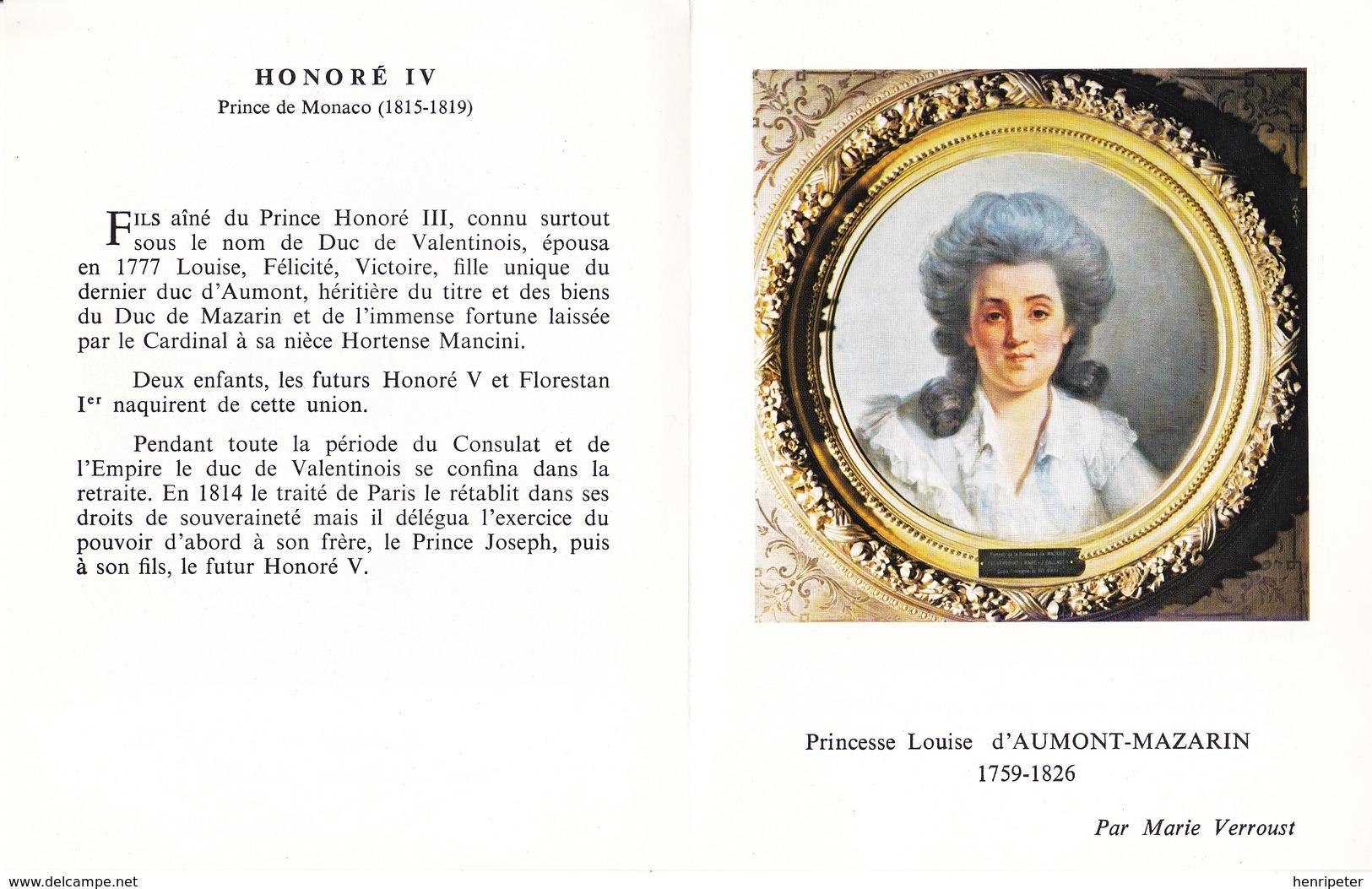 Princesse Louise D'Aumont-Mazarin, Par Marie Verroust - Honoré IV, Prince De Monaco, Par François Lemoyne - Mónaco