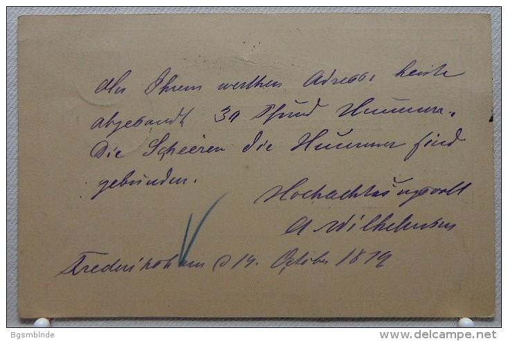 Ganzsache 10 Öre Von 1879 - 1864-04 (Christian IX)