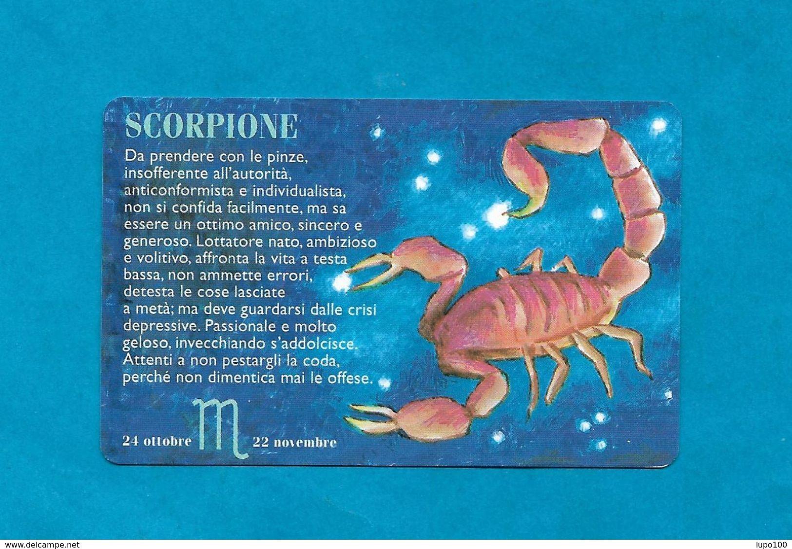 SAN MARINO SCHEDA TELEFONICA NUOVA NEW PHONECARD 25 - SEGNI ZODIACALI SCORPIONE - San Marino