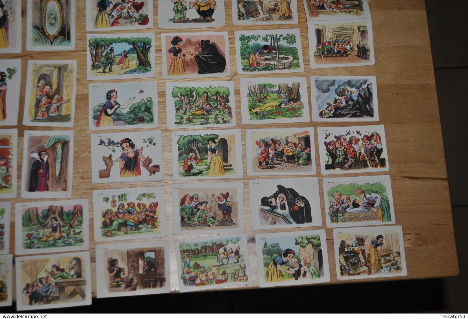 Rare 58 Vignettes Blanche-neige Et Les 7 Nains Walt-Disney Chocolat Menier - Sammelbilder, Sticker
