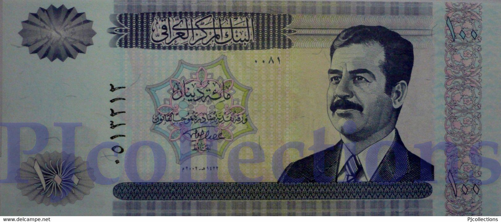 IRAQ 100 DINARS 2002 PICK 87 UNC - Iraq