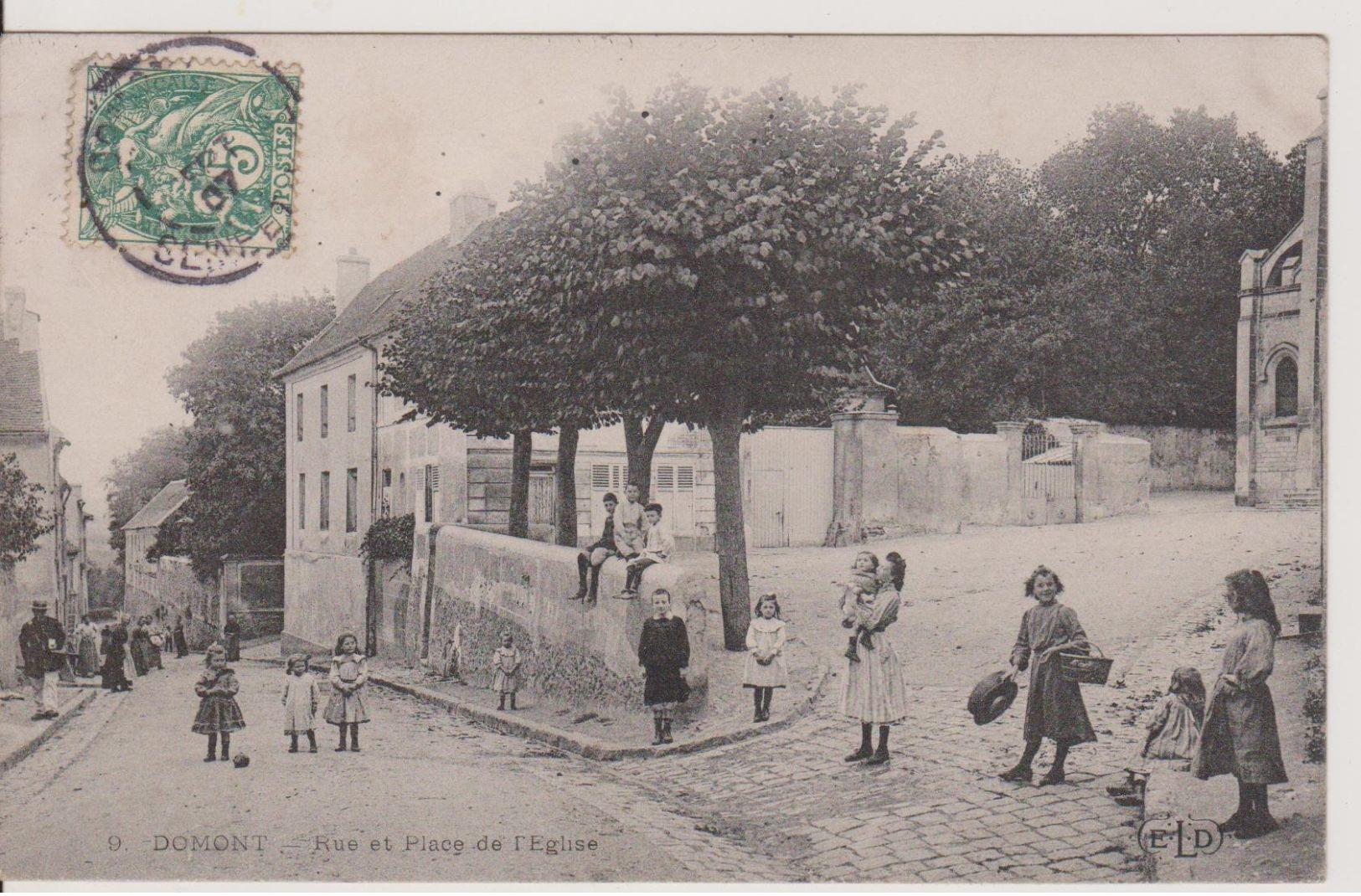 Domont -  Rue Et Place De L'Eglise - Domont