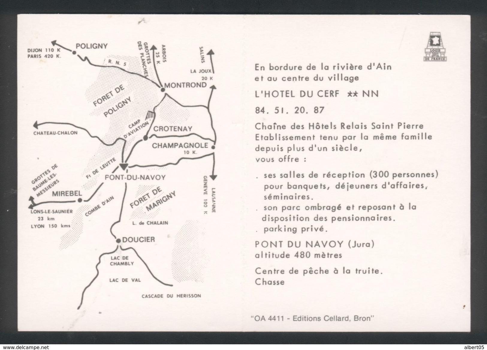39 - Pont Du Navoy - L'Hôtel Du Cerf - Publicité - Autres Communes