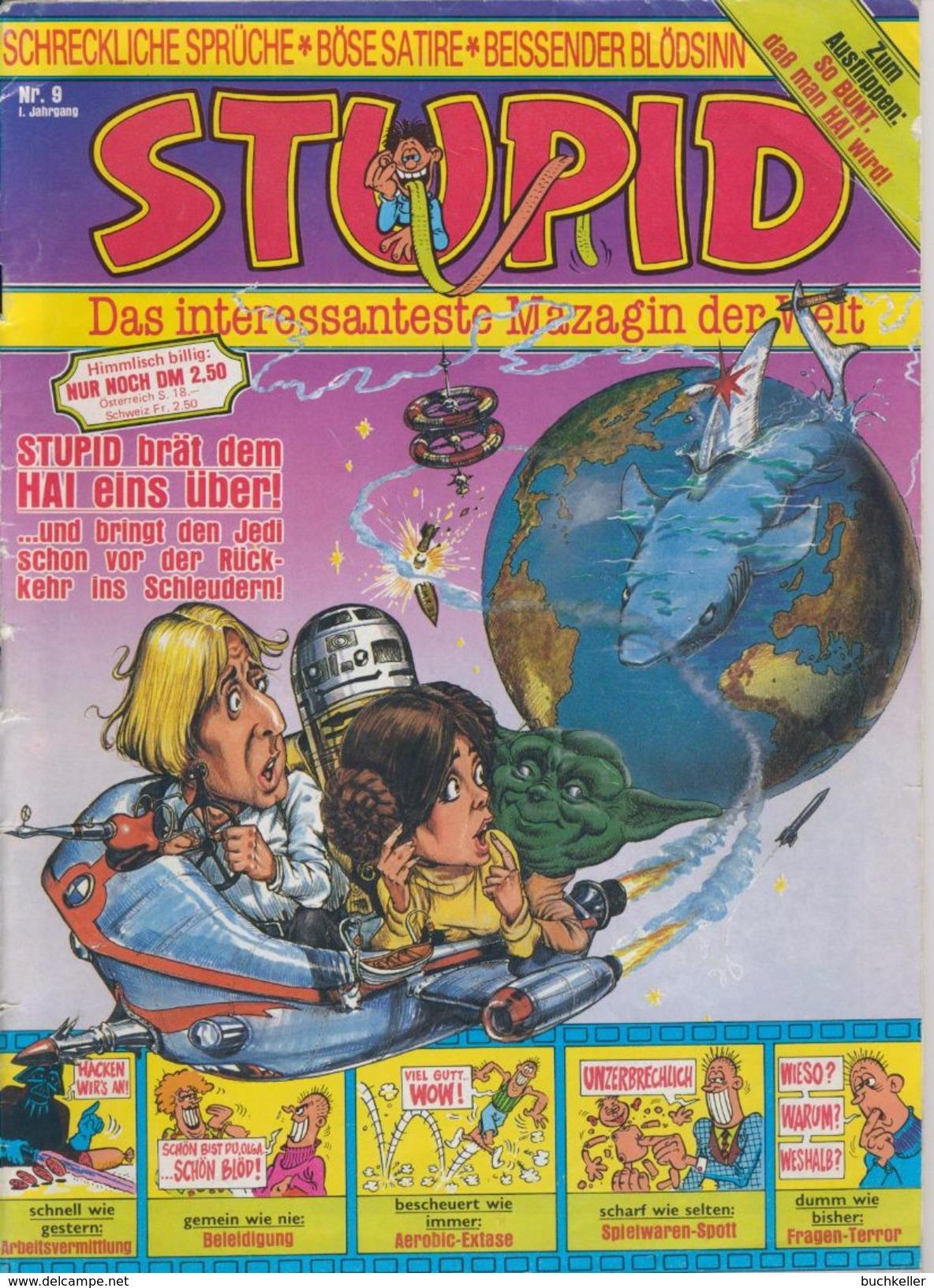 Stupid Nr. 9/1. Jahrgang Interpart Verlag 1983 Comicheft Satire - Livres, BD, Revues