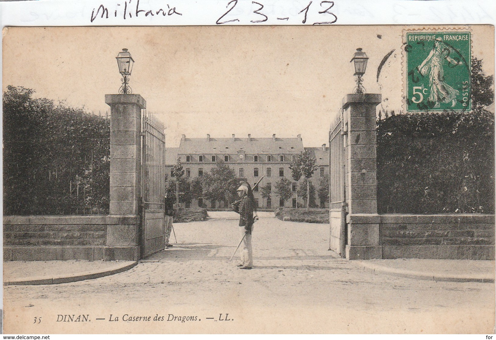 Militaria : DINAN  : ( La Caserne Des Dragons ) - Barracks
