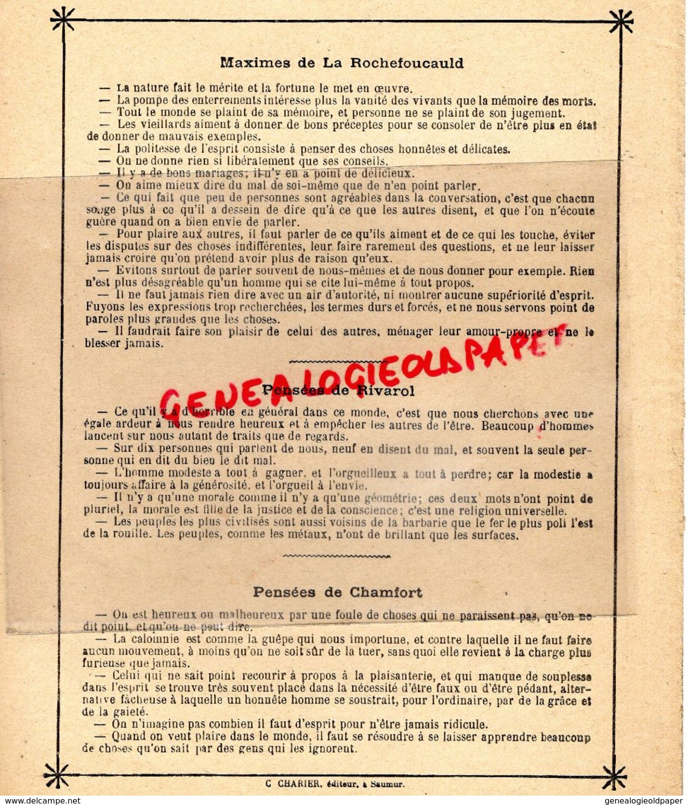 PROTEGE CAHIER- LES ANNALES DE LA REVOLUTION-1789-1799- ARRESTATION ROBESPIERRE-FIN DE LA CONVENTION -CHARIER SAUMUR - Colecciones & Series